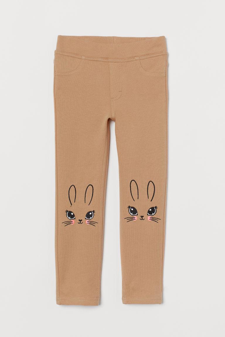 H & M - 緊身褲 - 米黃色