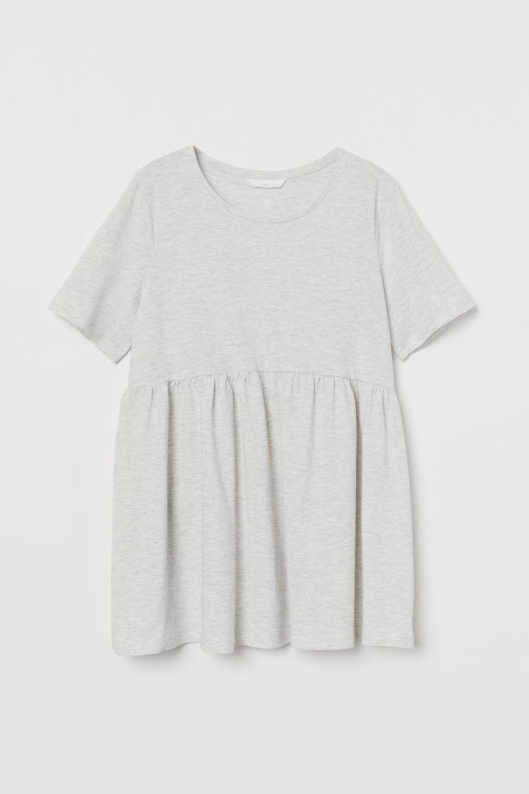H & M - MAMA 棉質T恤 - 灰色