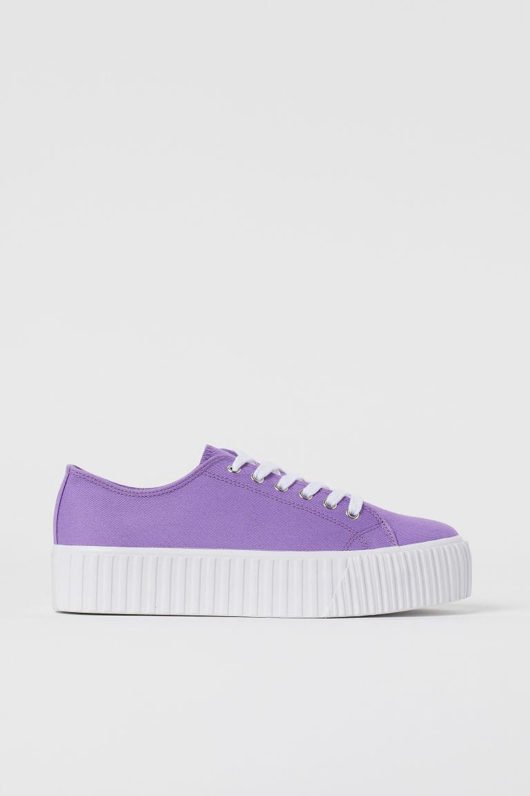 H & M - 厚底運動鞋 - 紫色