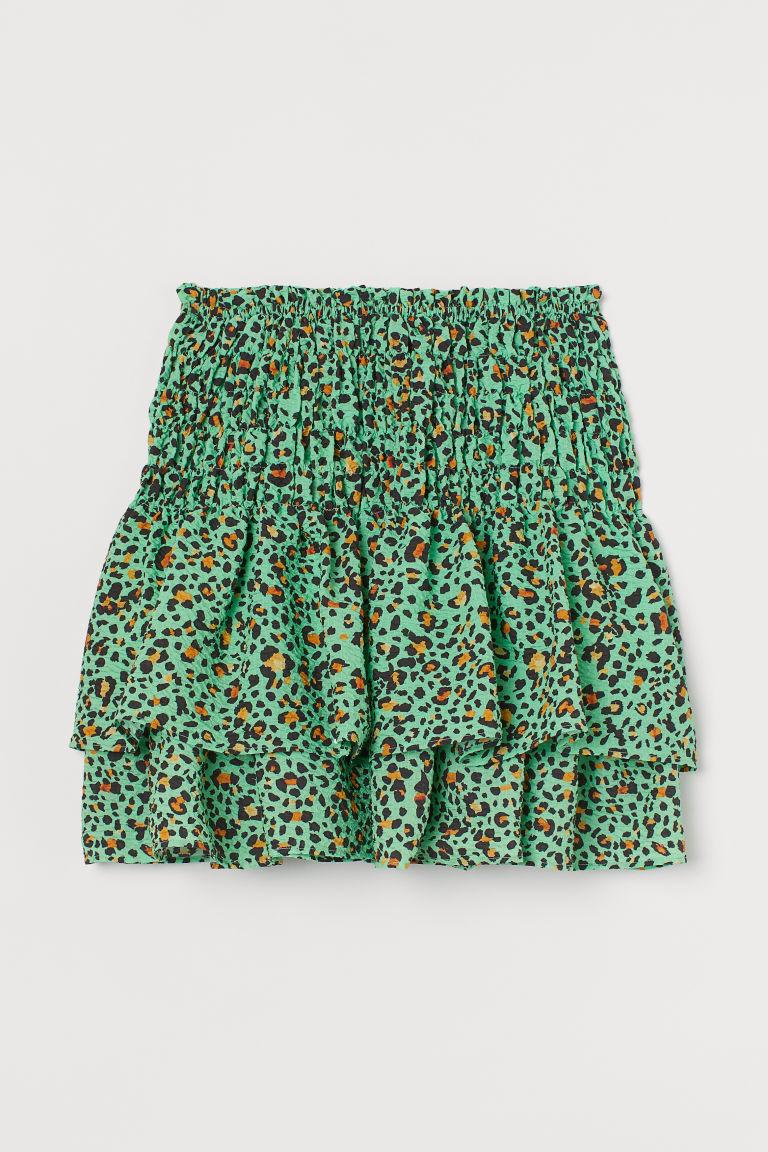 H & M - 多層次印花裙 - 綠色