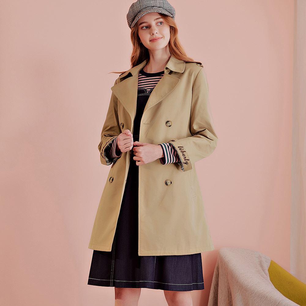 OUWEY歐薇 雙排釦質感風衣外套(可)J89402