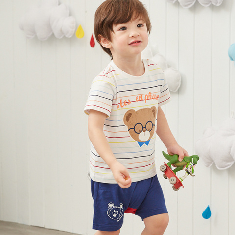 Disney baby 米奇系列塗鴨米奇活力短褲(丈青)