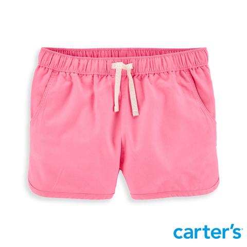 Carter's 台灣總代理 彈性粉橘色短褲