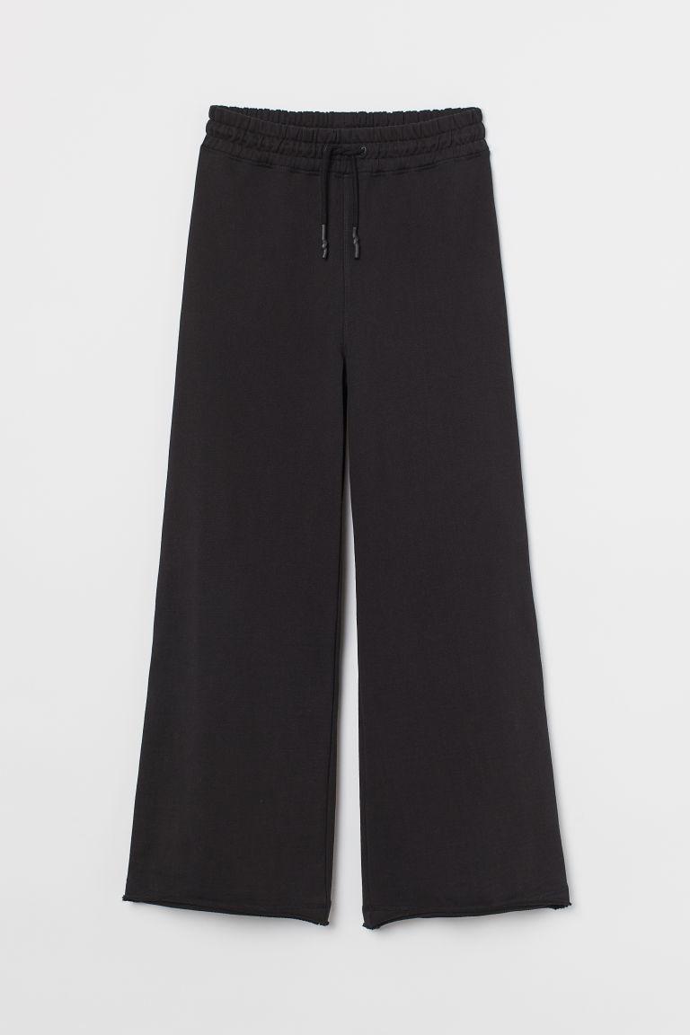 H & M - 寬管慢跑褲 - 黑色