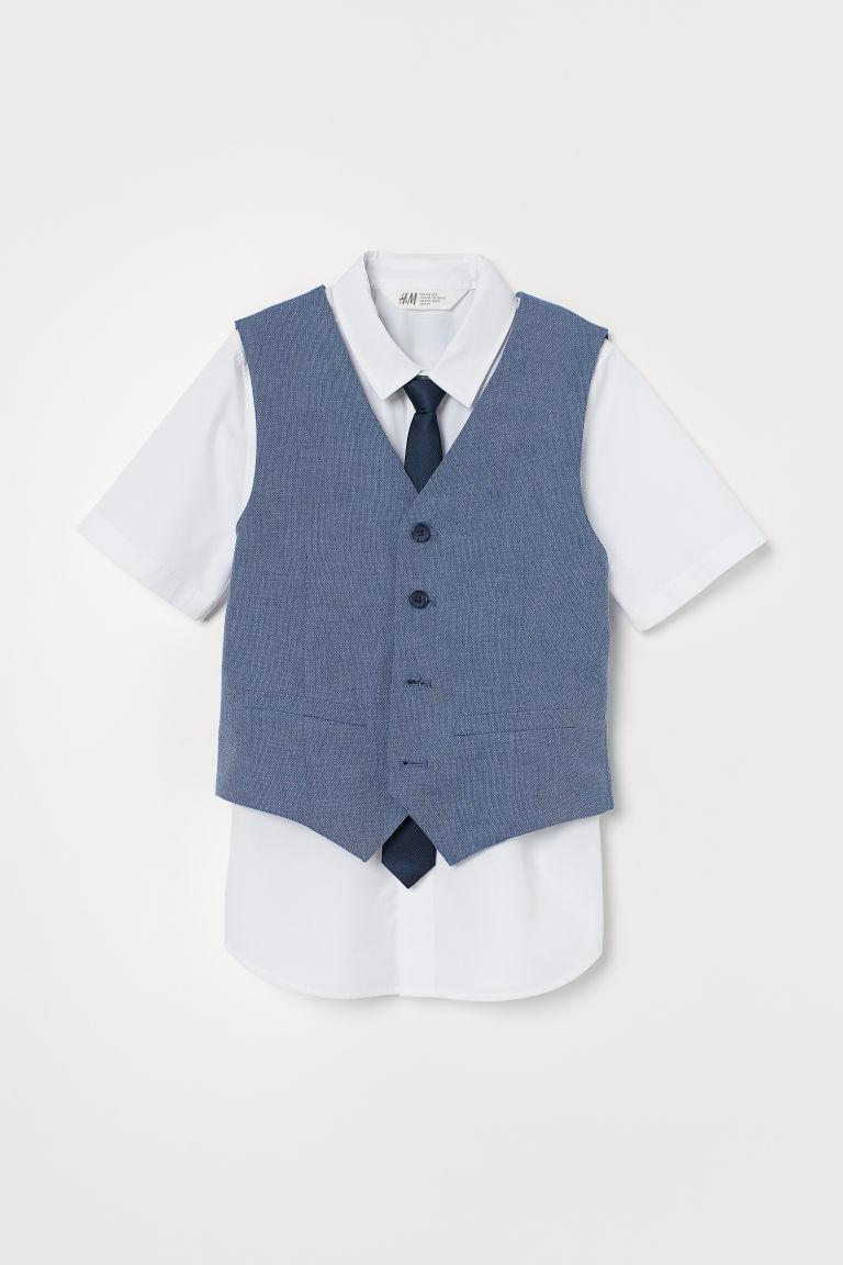 H & M - 3件組套裝 - 藍色