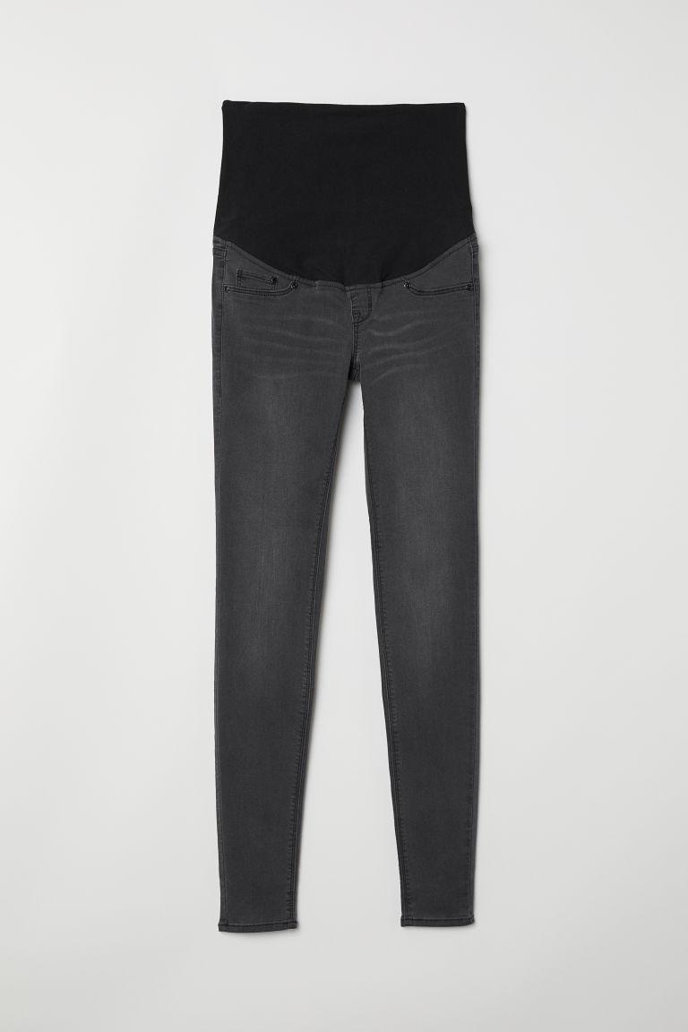 H & M - MAMA 超窄管牛仔褲 - 灰色