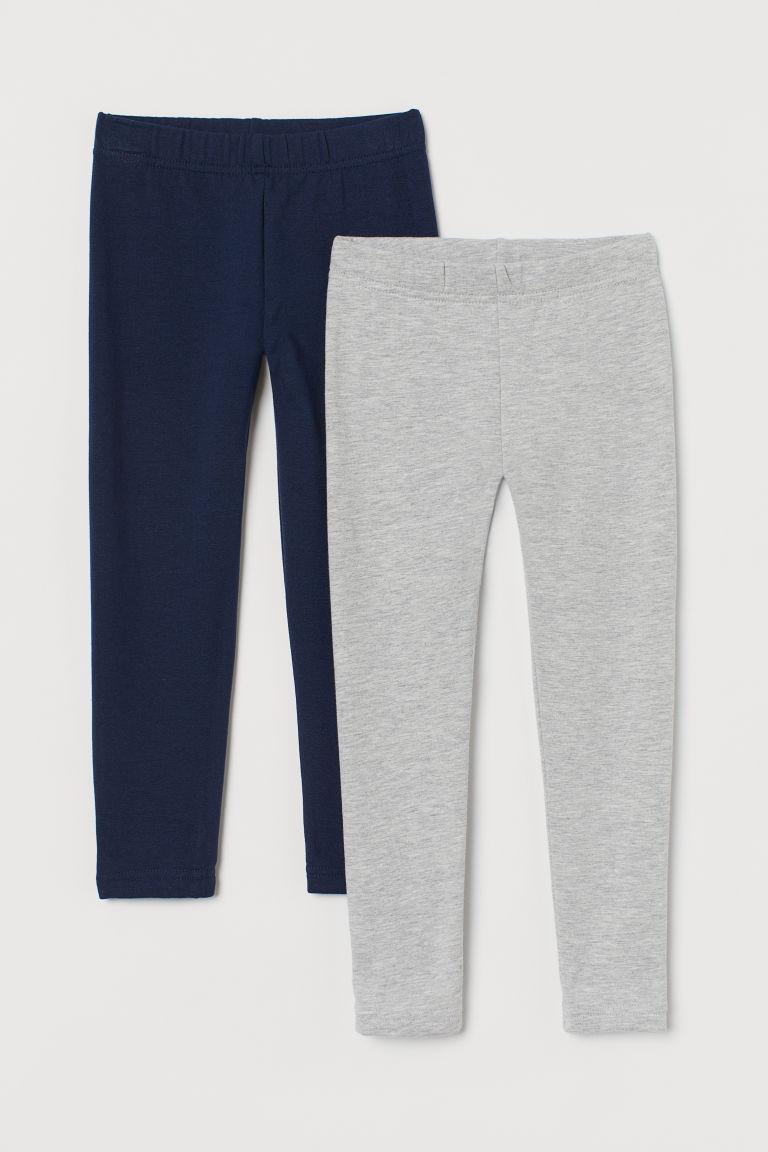 H & M - 2件入內搭褲 - 藍色