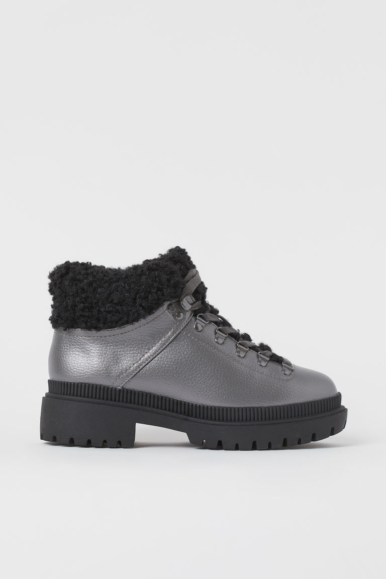 H & M - 保暖內裡靴 - 銀色