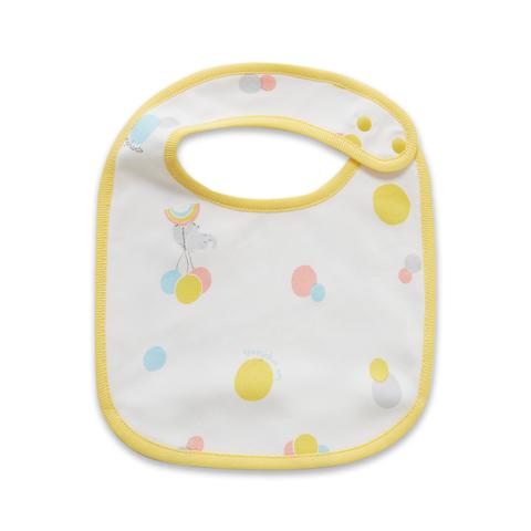 【Cloudy雲柔系列】麗嬰房 嬰兒家居小象圍兜-淺黃色