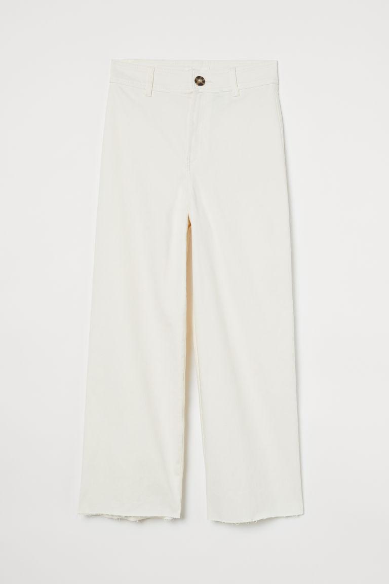 H & M - 寬鬆牛仔褲 - 白色