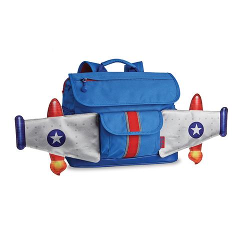 美國Bixbee 飛飛童趣系列—天空藍噴射機小童背包