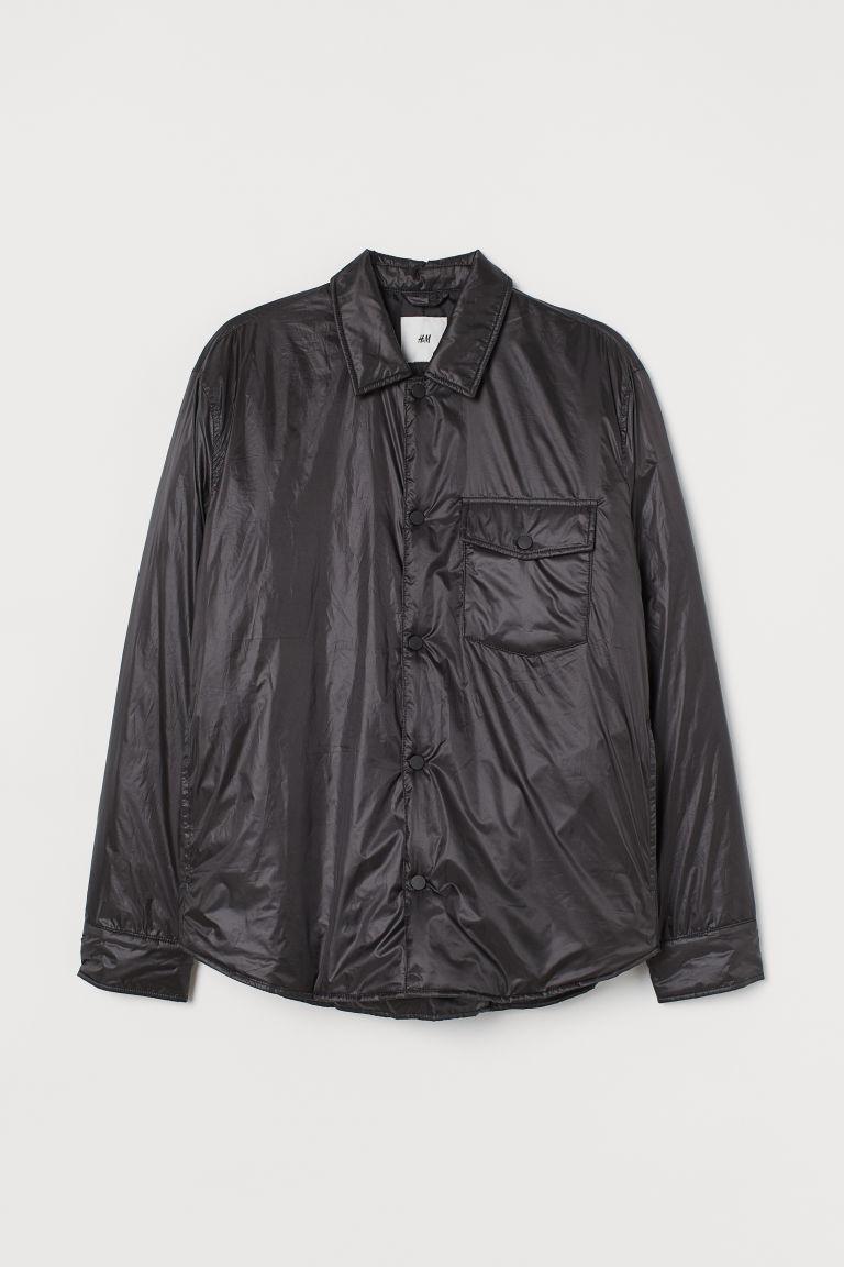 H & M - THERMOLITE® 襯衫式外套 - 黑色