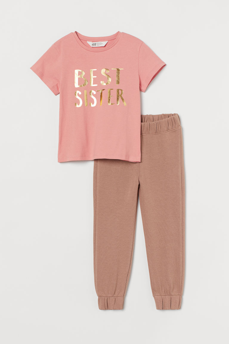 H & M - 2件入手足套裝 - 粉紅色