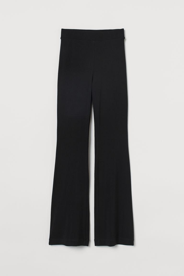 H & M - 喇叭內搭褲 - 黑色