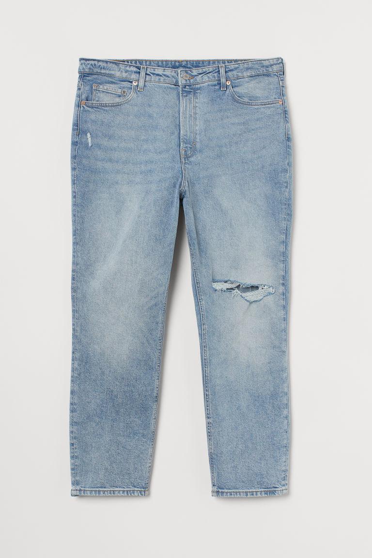 H & M - H & M+ 復古貼身九分牛仔褲 - 藍色