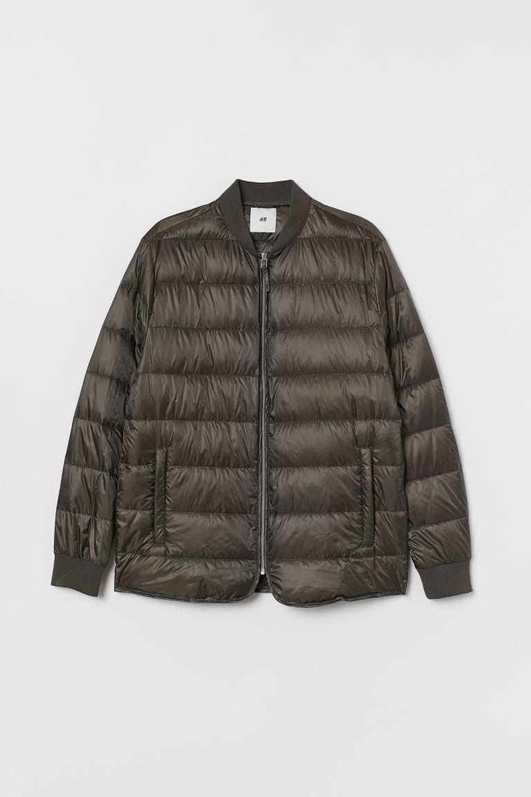 H & M - 車縫羽絨外套 - 綠色