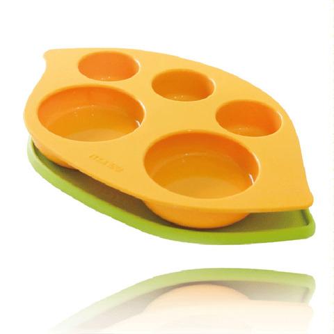 韓國monee - 100%白金矽膠豌豆造型防滑雙用矽膠餐盤