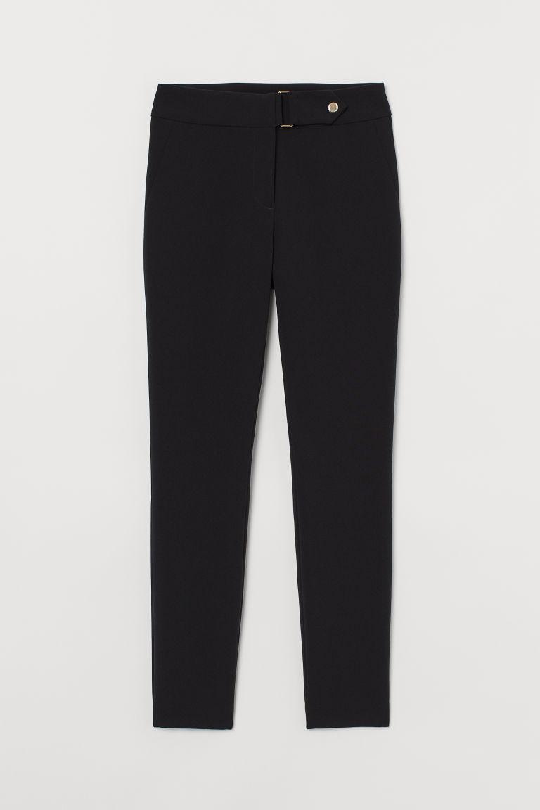 H & M - 修身長褲 - 黑色