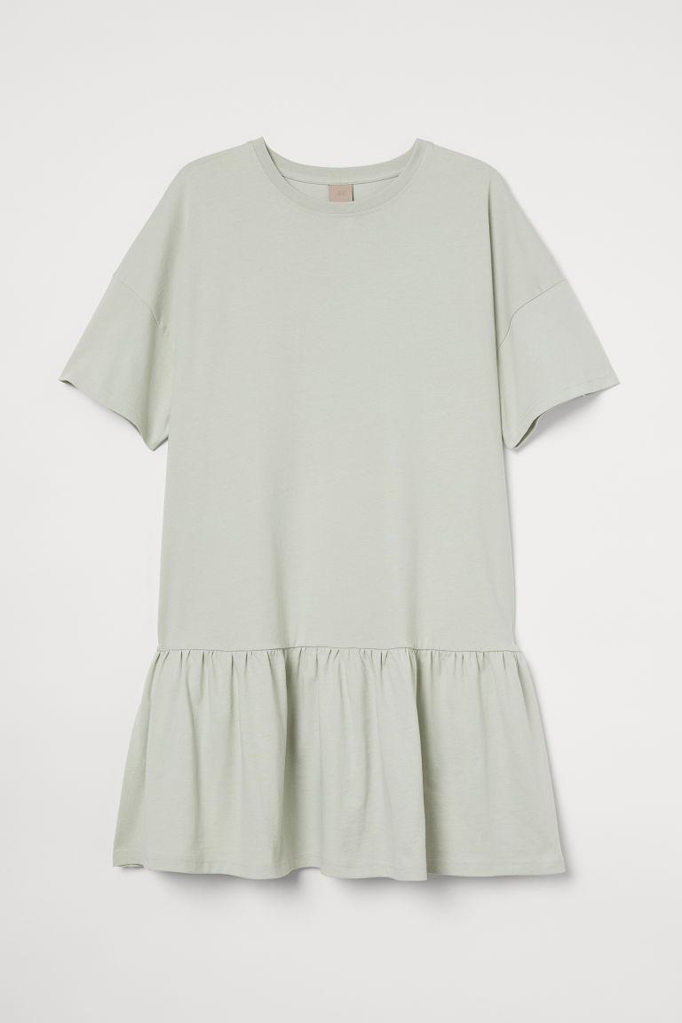 H & M - H & M+ 棉質T恤洋裝 - 綠色
