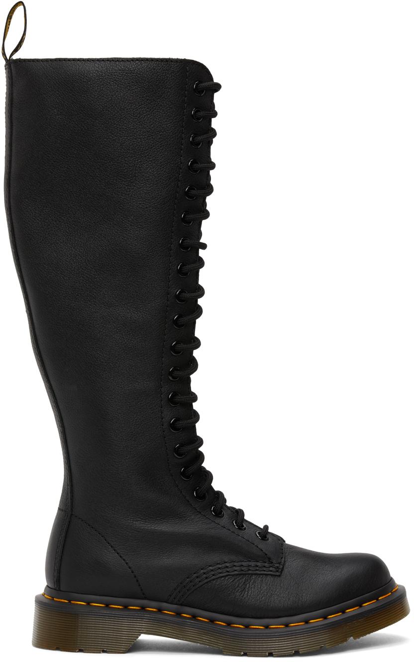 Dr. Martens 黑色 Virginia 中筒靴