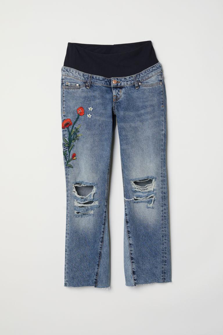 H & M - MAMA 喇叭牛仔褲 - 藍色