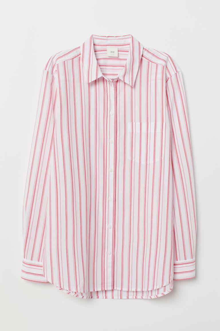 H & M - 棉質襯衫 - 紅色