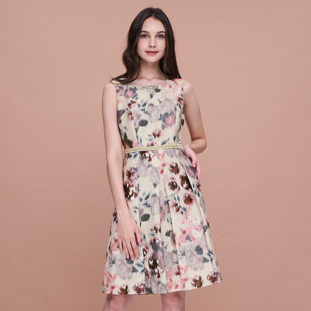 ILEY伊蕾 油彩花卉印花洋裝(米)959722