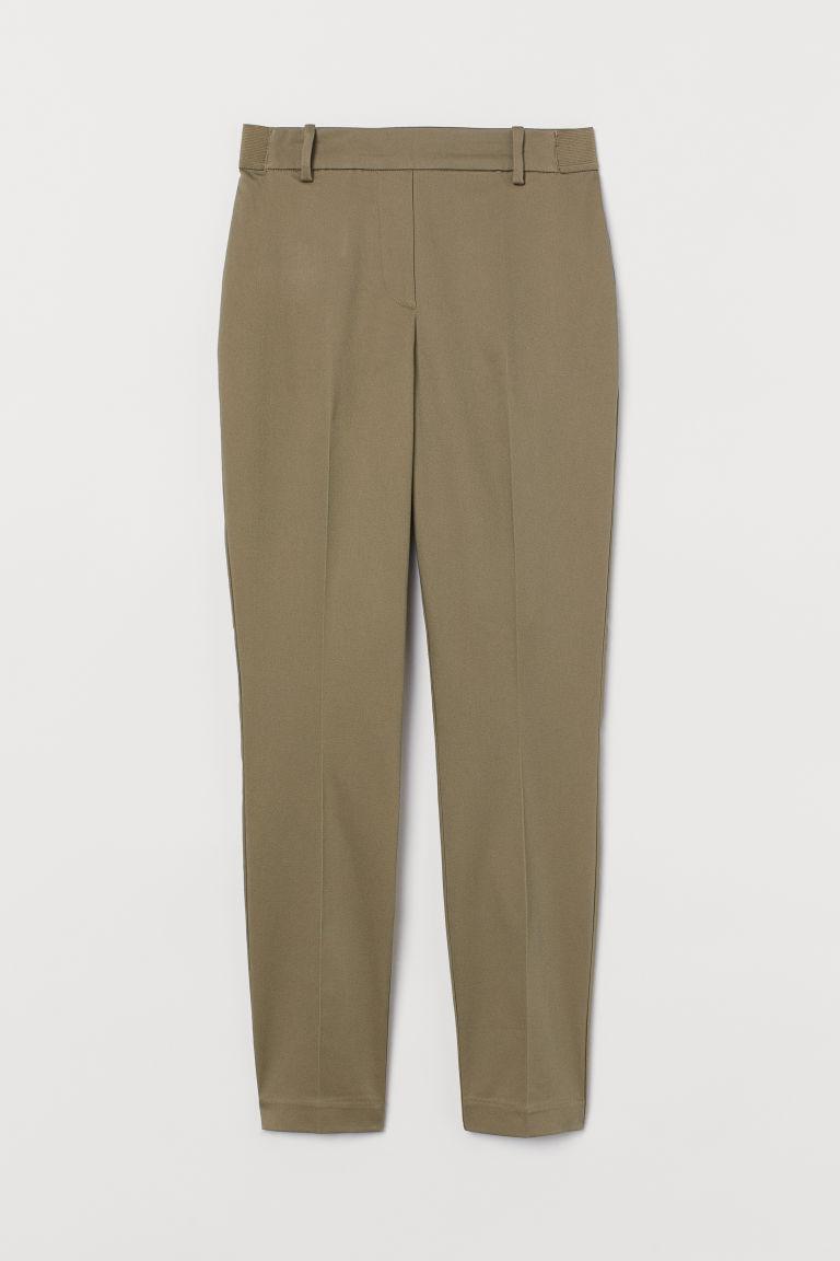 H & M - 九分褲 - 綠色
