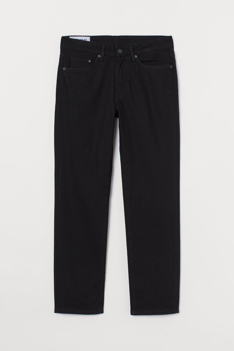 H & M - 中腰牛仔褲 - 黑色