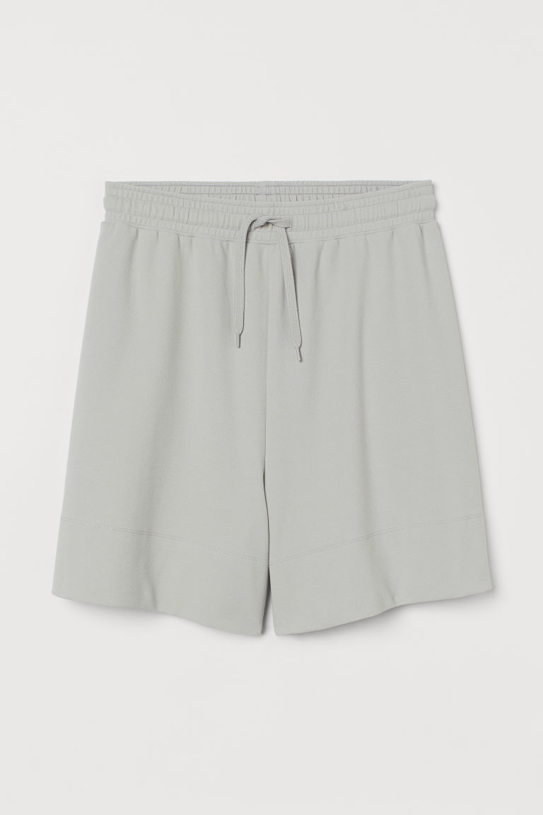 H & M - 比馬棉短褲 - 銀色