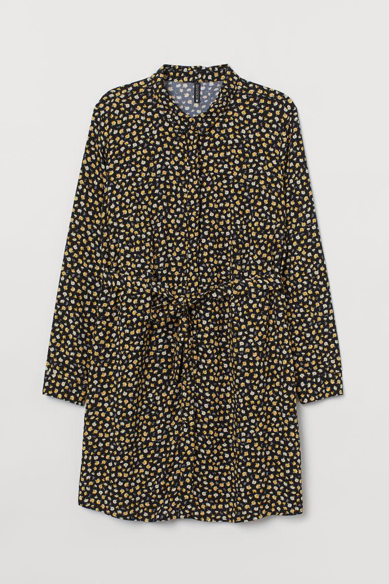H & M - H & M+ 襯衫式洋裝 - 黃色