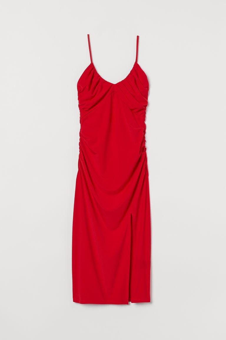 H & M - 垂墜感洋裝 - 紅色