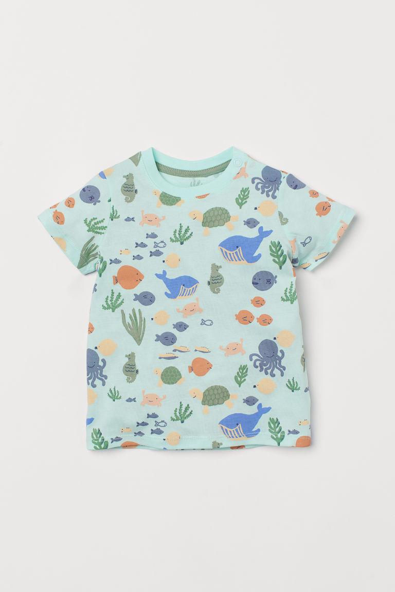 H & M - 棉質T恤 - 綠色
