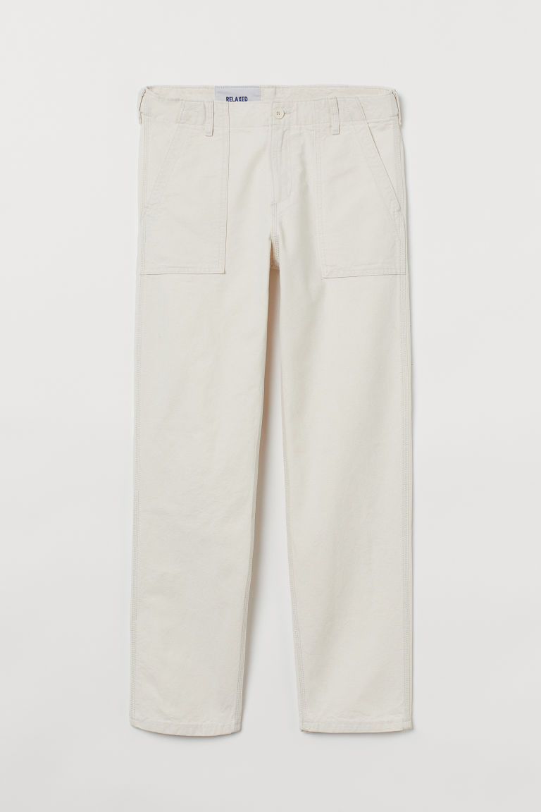 H & M - 休閒牛仔褲 - 白色