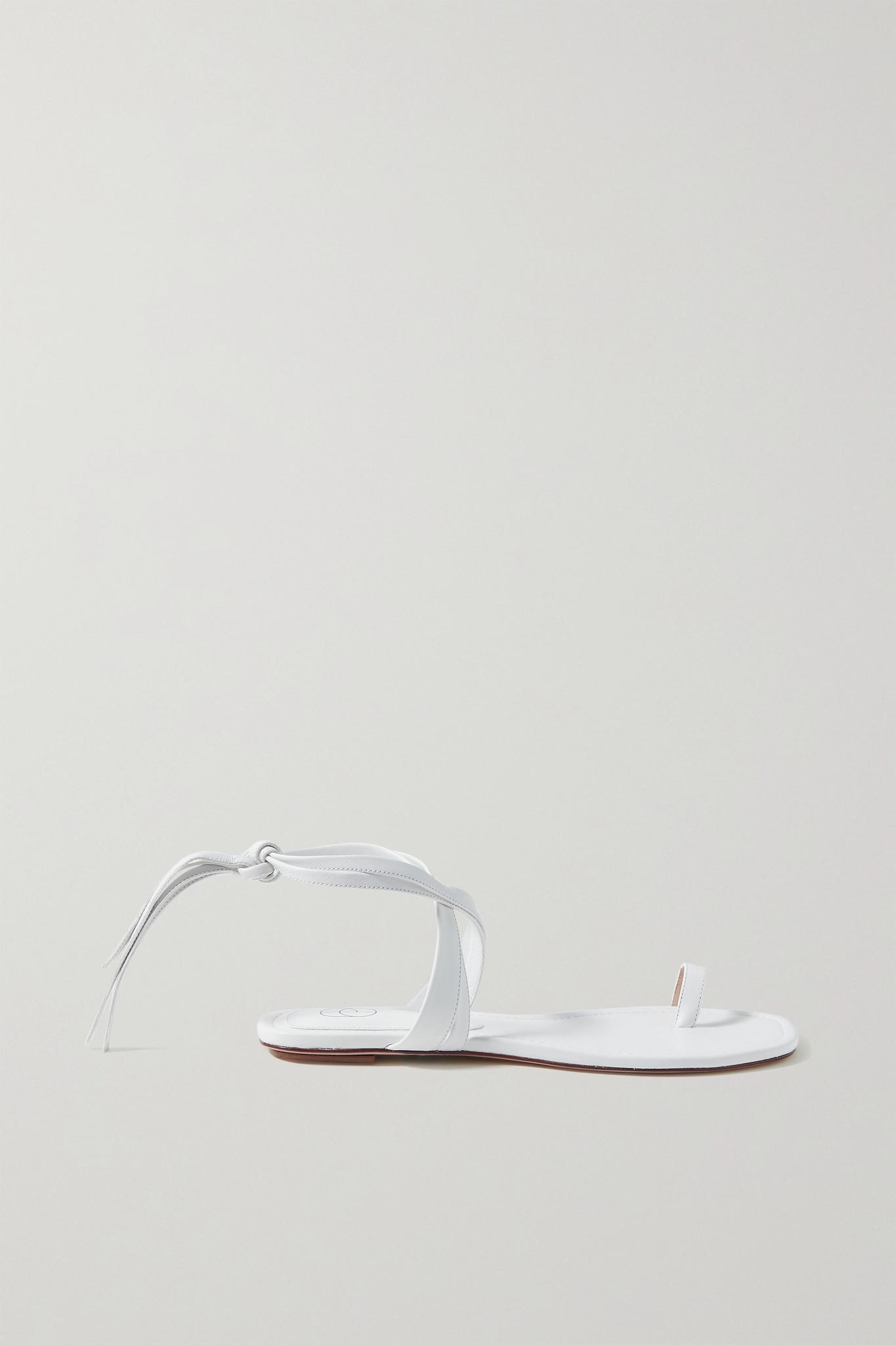 PORTE & PAIRE - 皮革凉鞋 - 白色 - IT35.5