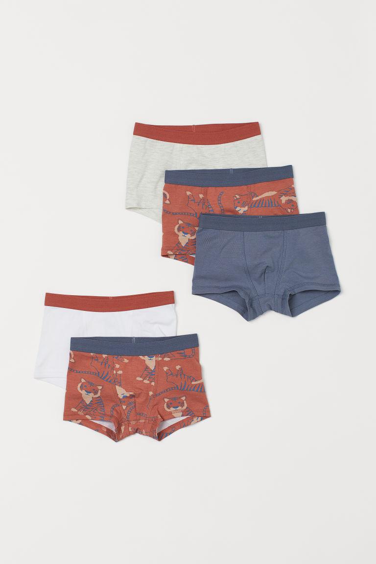 H & M - 5件入四角褲 - 橙色