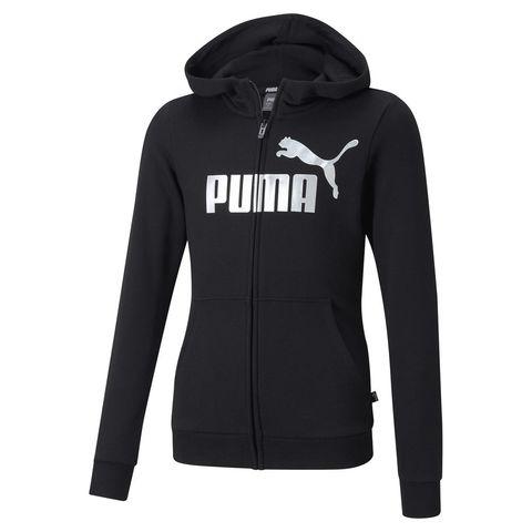 PUMA 女童 ESS+連帽外套(黑)