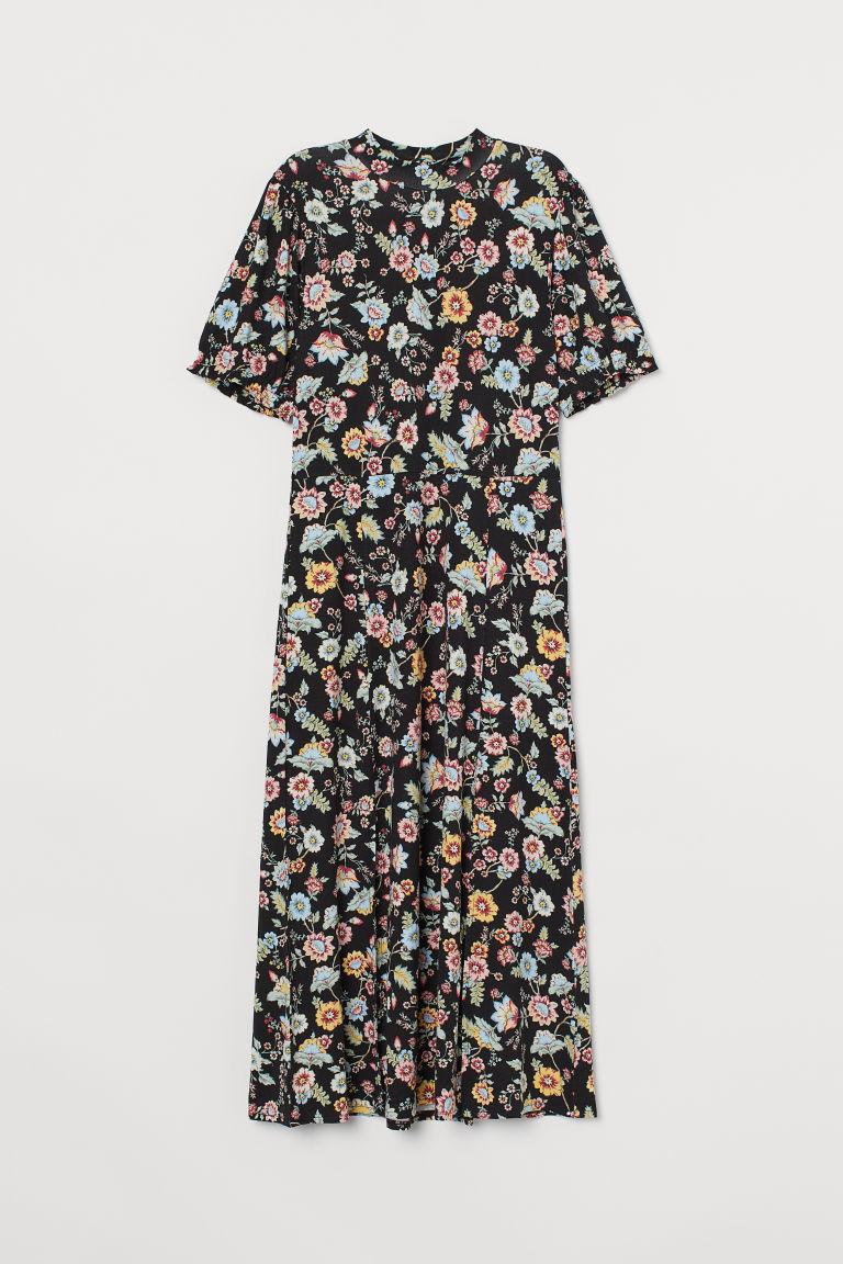 H & M - 中長版平紋洋裝 - 黑色