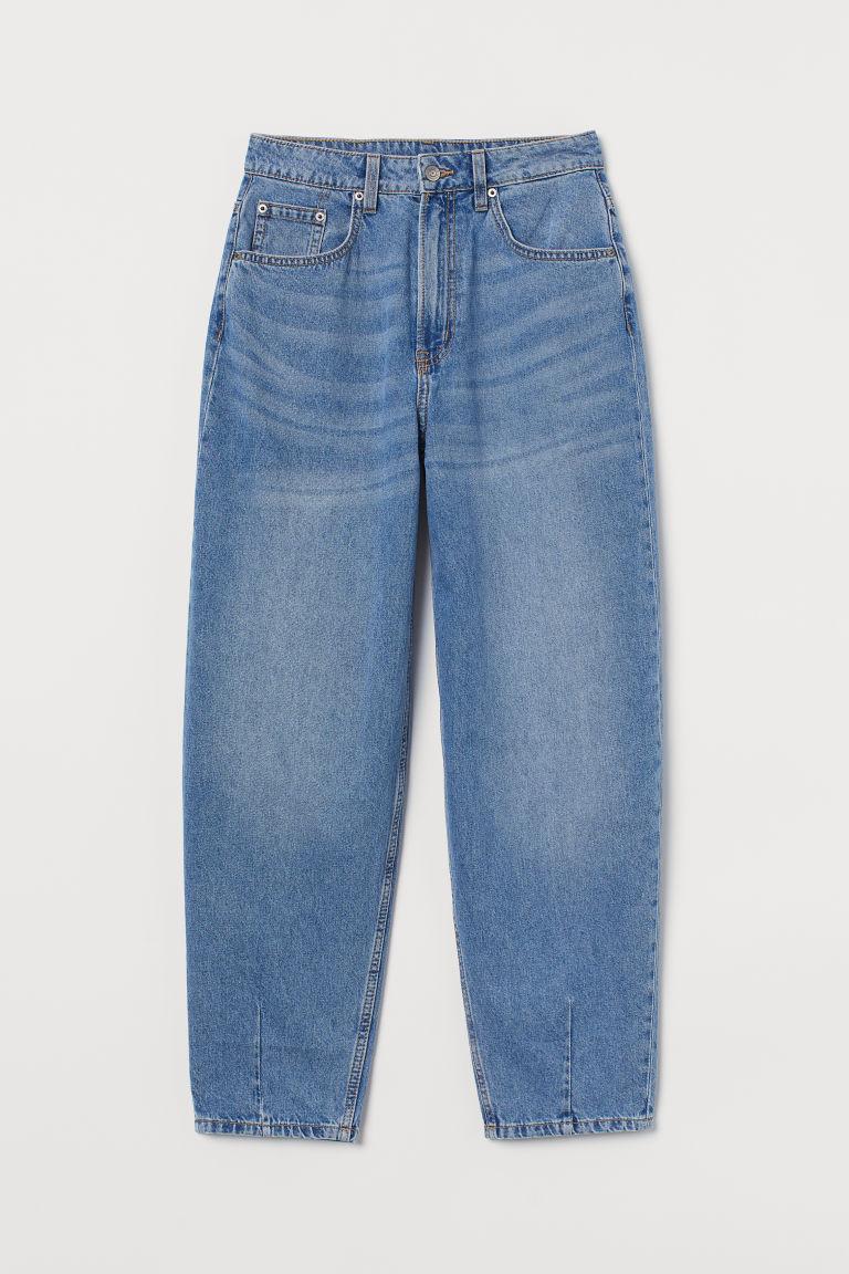 H & M - 九分氣球褲 - 藍色
