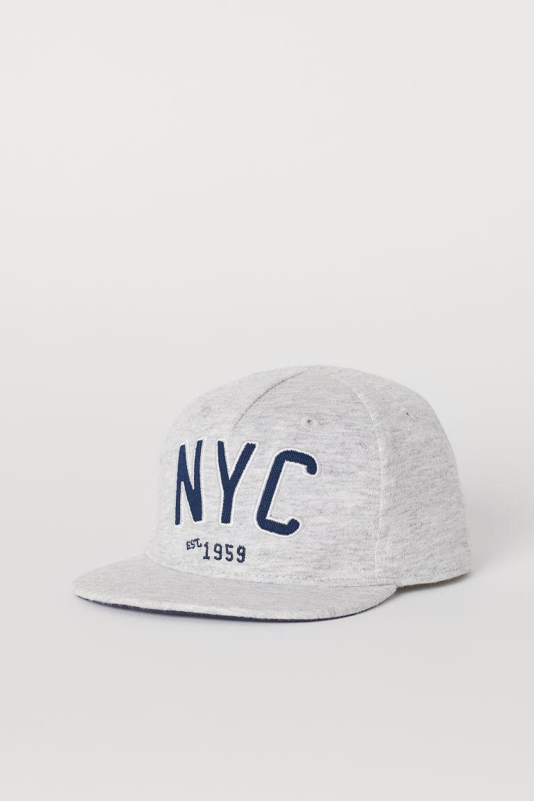 H & M - 棉質棒球帽 - 灰色