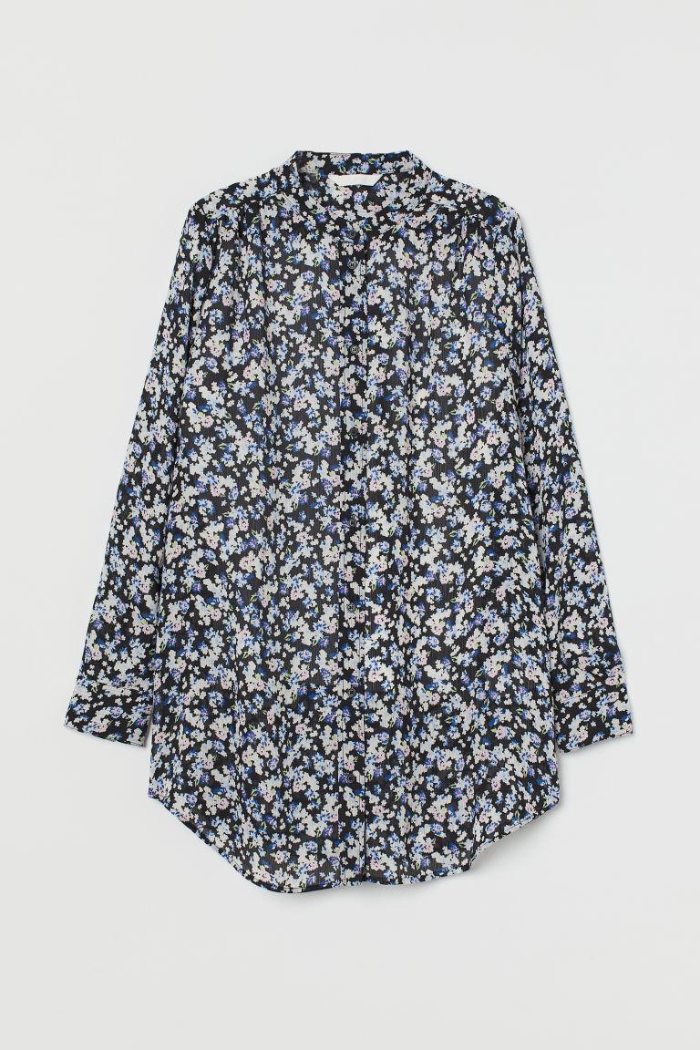 H & M - 印花女衫 - 黑色
