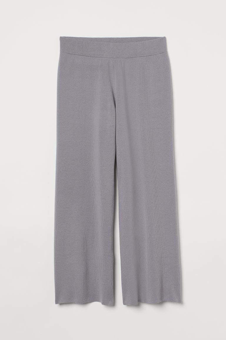 H & M - H & M+ 寬管褲 - 灰色