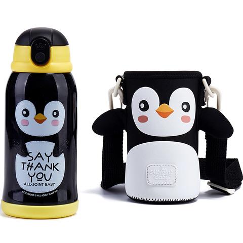 義大利ALL-JOINT動物王國保溫杯600ML-企鵝