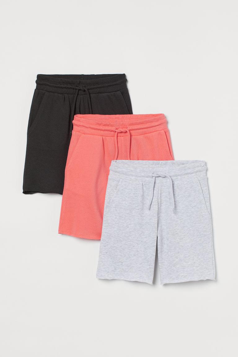 H & M - 3件入短褲 - 灰色