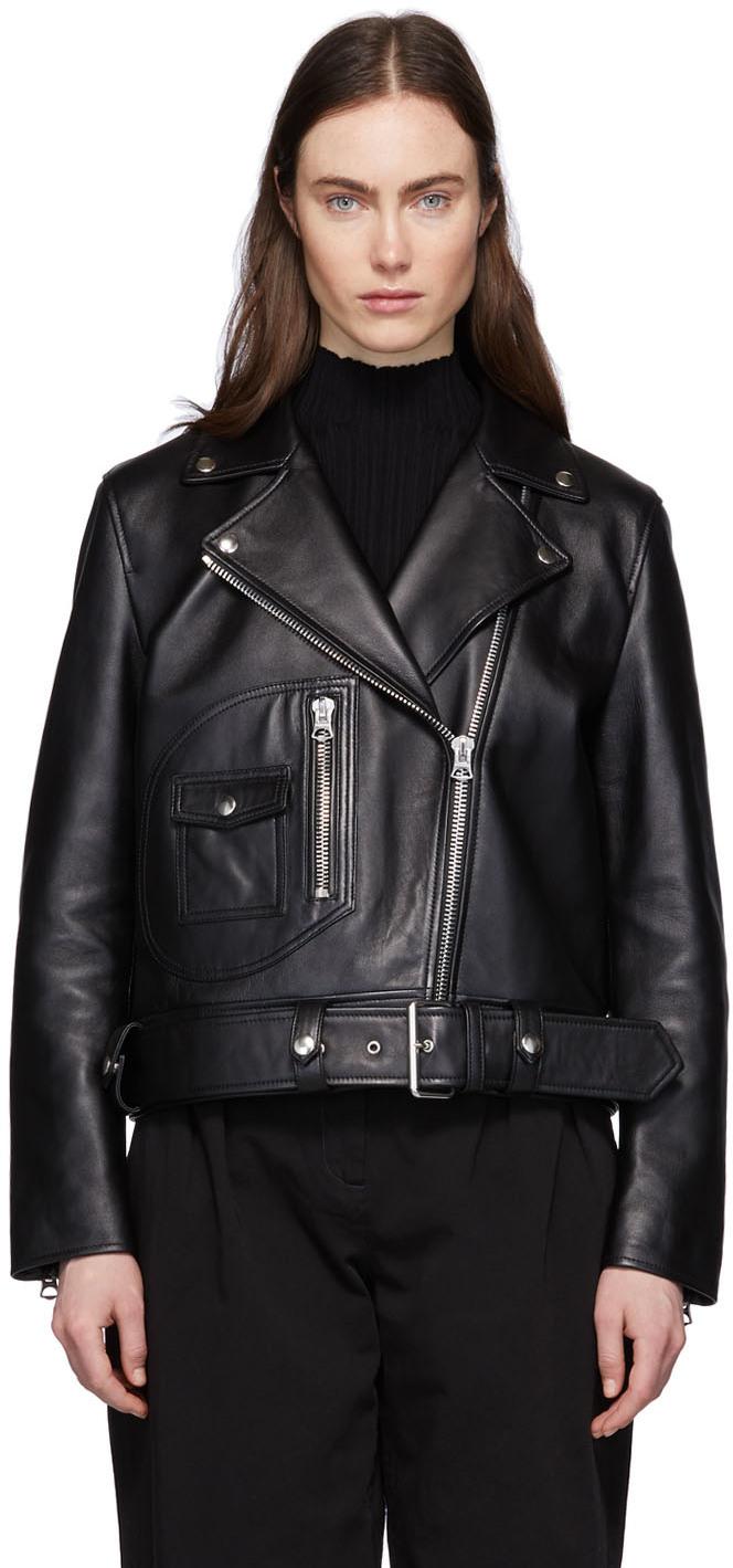 Acne Studios 黑色皮革机车夹克