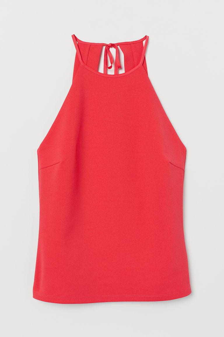 H & M - 平紋縐紗上衣 - 粉紅色