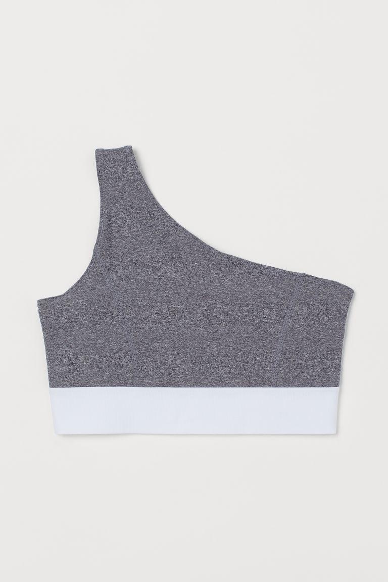 H & M - 輕度支撐運動內衣 - 灰色