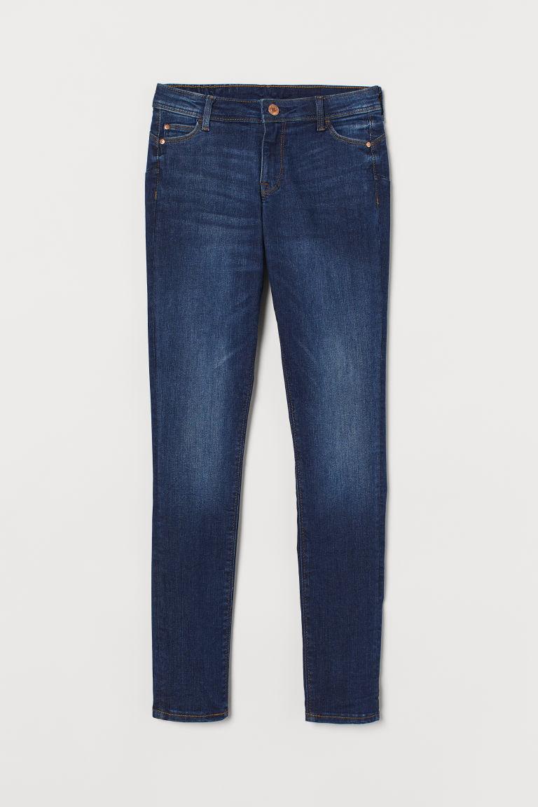 H & M - 提臀低腰牛仔內搭褲 - 藍色
