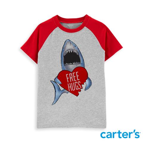 carter's 鯊魚抱一下!短袖上衣  (5-8)