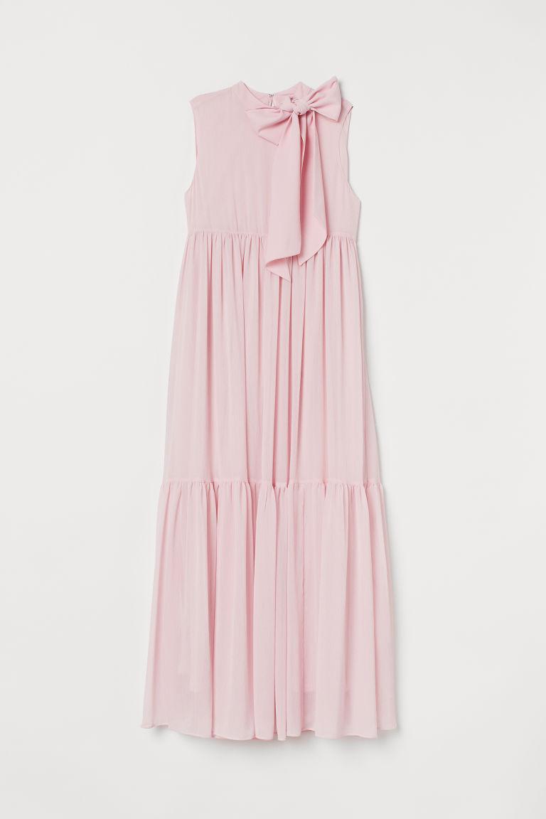 H & M - MAMA 蝴蝶結飾長洋裝 - 粉紅色